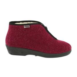 Befado obuwie damskie pu 041D050 czerwone wielokolorowe