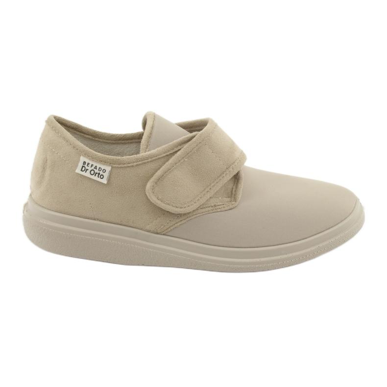 Befado obuwie damskie pu 036D005 brązowe