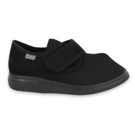 Czarne Befado obuwie damskie pu 036D006