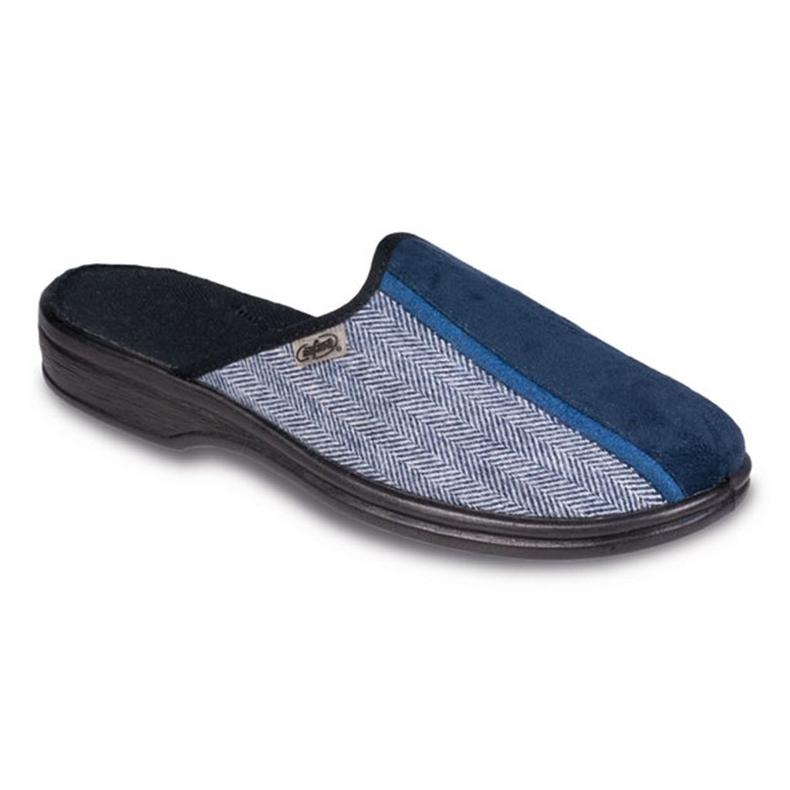 Befado obuwie męskie pu 093M030 niebieskie