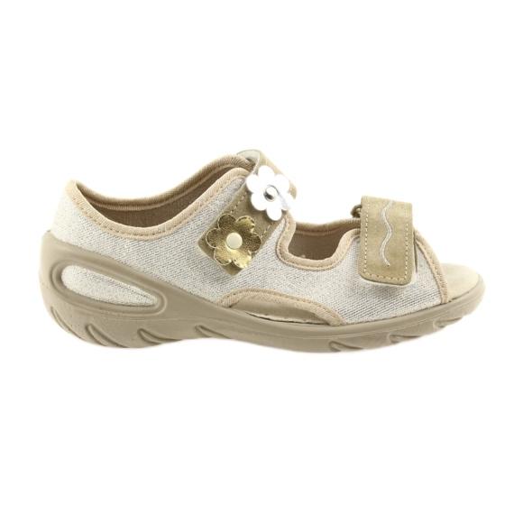 Befado obuwie dziecięce pu 065X121 żółte