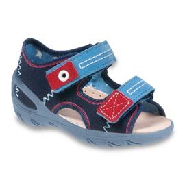Granatowe Befado obuwie dziecięce pu 065X112