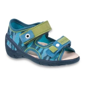 Befado obuwie dziecięce pu 065X113 niebieskie