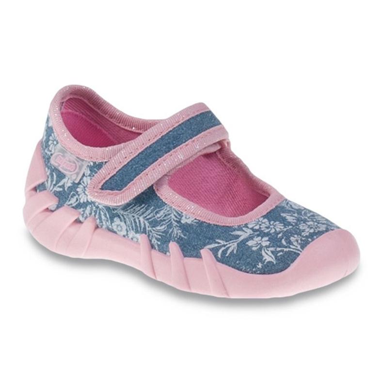 Befado różowe obuwie dziecięce 109P160 niebieskie