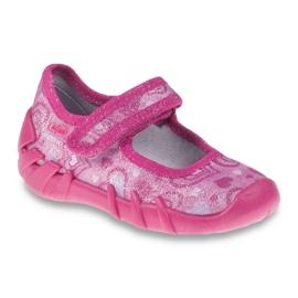 Różowe Befado obuwie dziecięce 109P162