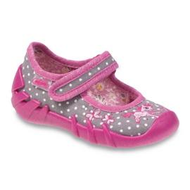 Befado obuwie dziecięce 109P154 różowe szare