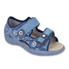 Befado obuwie dziecięce pu 065X118 niebieskie