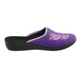 Befado obuwie damskie pu 552D001 fioletowe różowe