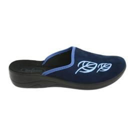 Granatowe Befado obuwie damskie pu 552D002