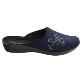 Granatowe Befado obuwie damskie pu 552D005