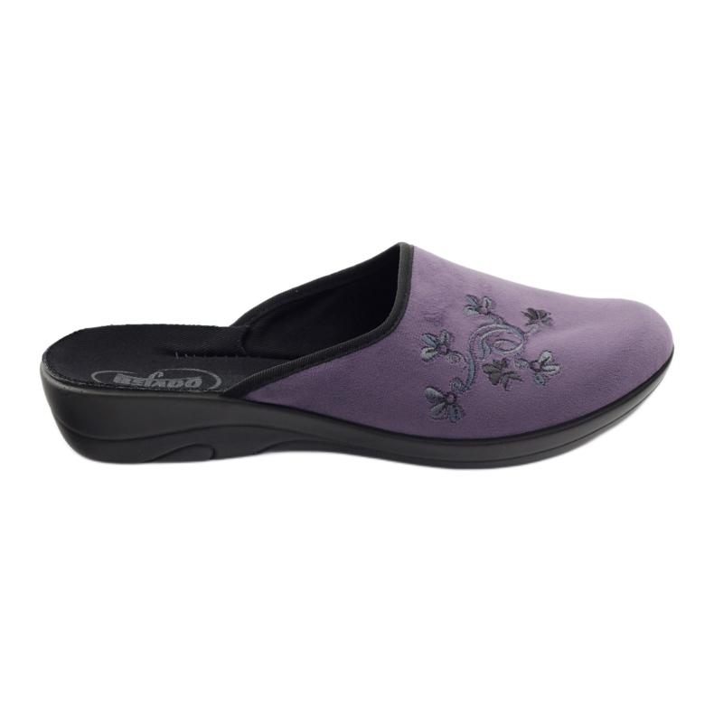 Befado obuwie damskie pu 552D006 fioletowe
