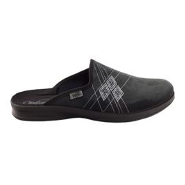 Granatowe Befado obuwie męskie pu 548M007