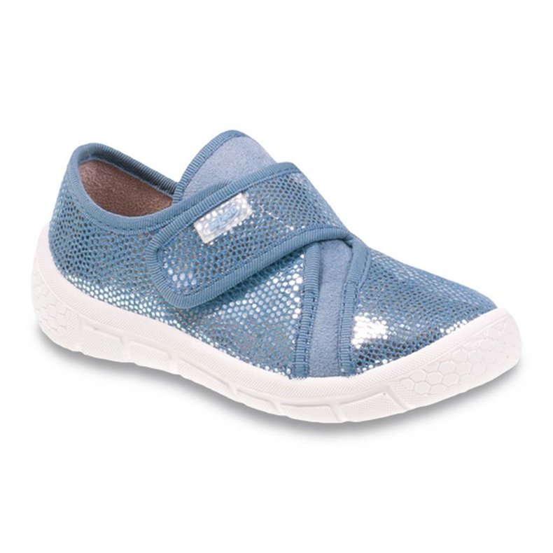 Befado obuwie dziecięce 539X002 szare niebieskie