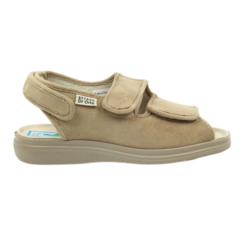 Befado obuwie damskie pu 676D004 brązowe