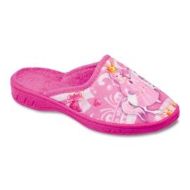 Befado obuwie dziecięce pu 707X289 różowe
