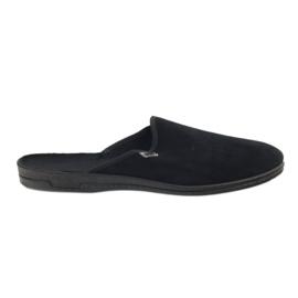 Czarne Befado obuwie męskie pvc 715M009
