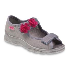 Befado obuwie dziecięce 969Y103 różowe szare