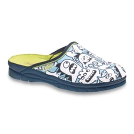 Befado obuwie dziecięce     wzór do kolorowania 708X004 niebieskie
