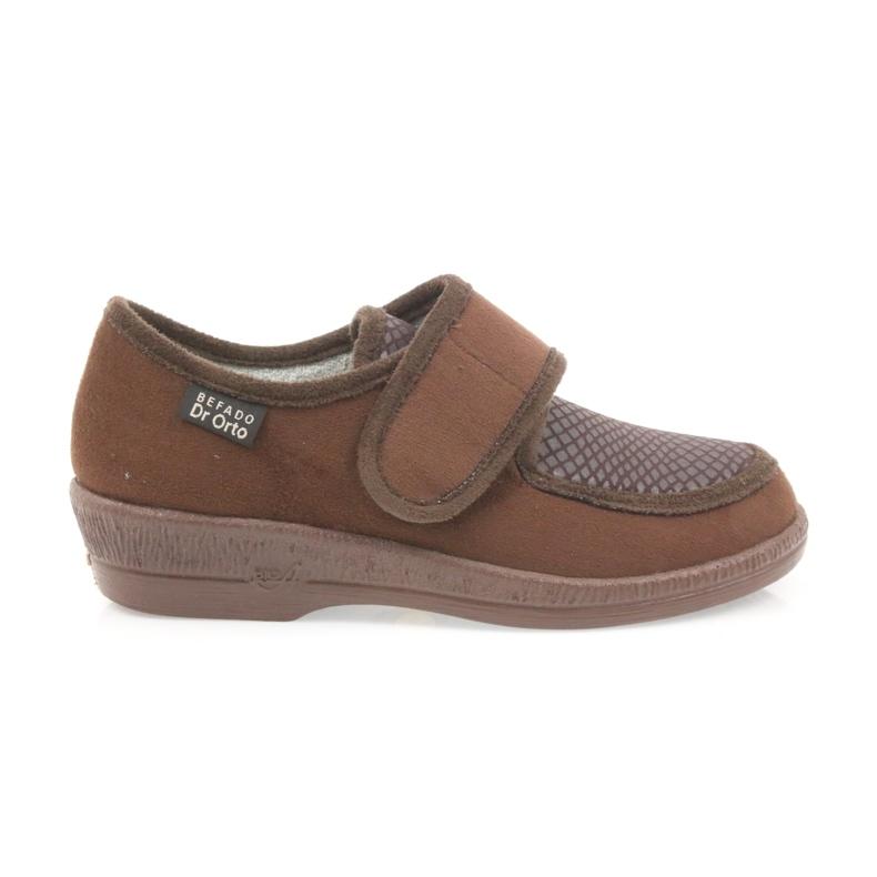 Befado obuwie damskie pu 984D010 brązowe