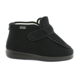 Czarne Befado obuwie damskie pu orto  987D002