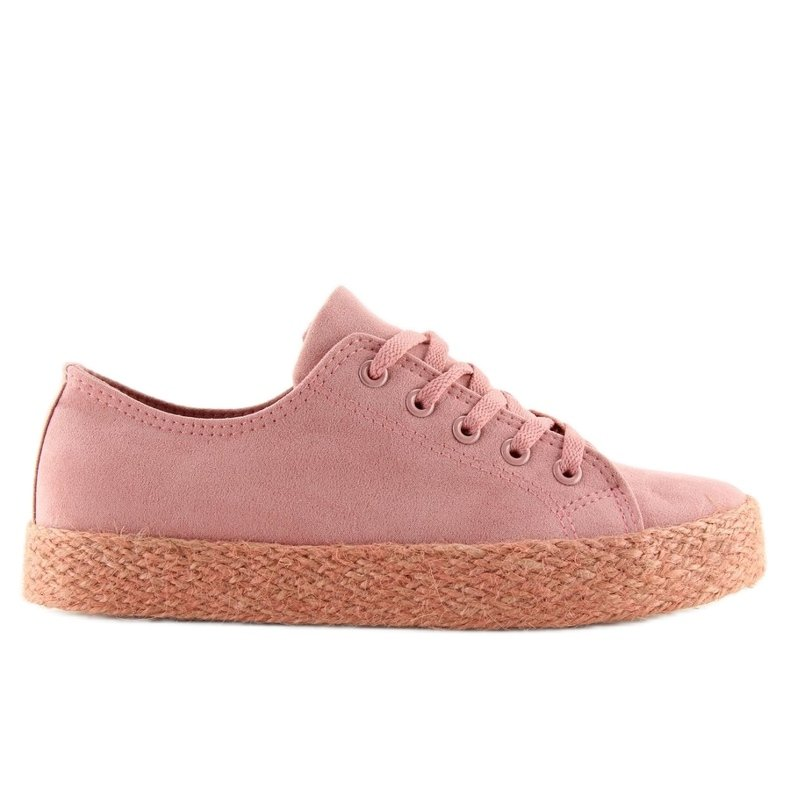 Espadryle full colour różowe K1830201 Rosa