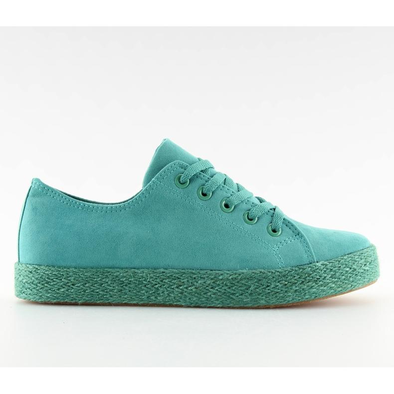 Espadryle full colour turkusowe K1830201 Azul zielone