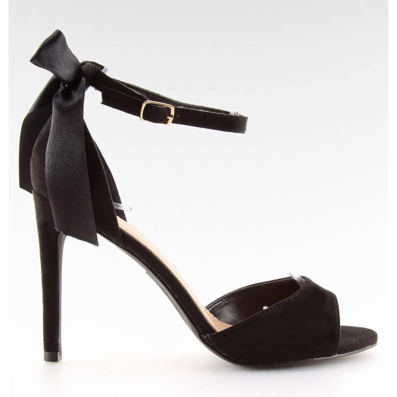 Sandałki na szpilce czarne Z921-7SA-2 black