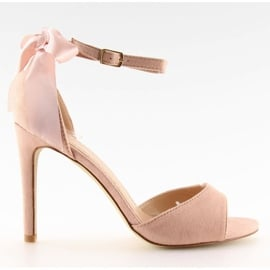 Sandałki na szpilce różowe Z921-7SA-2 pink