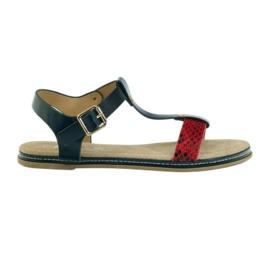 American Club American sandały damskie wkładka skórzana