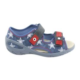Niebieskie Befado obuwie dziecięce pu 065X119