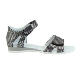 Sandałki srebrne kropki Ren But 4333