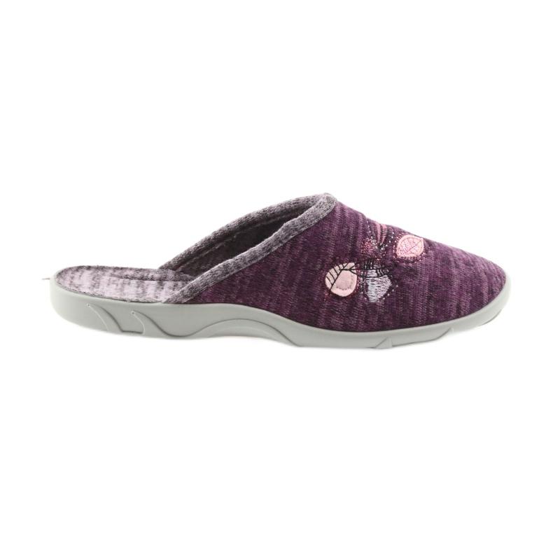 Befado kolorowe obuwie damskie pu 235D152 fioletowe