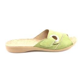 Befado obuwie damskie pu 265D008 zielone