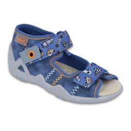 Befado żółte obuwie dziecięce 250P072 niebieskie
