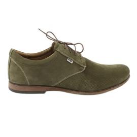 Zielone Riko buty męskie półbuty casual 777D