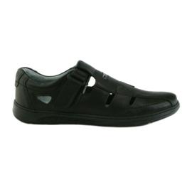 Szare Riko butu męskie sandały dziurkowane 851