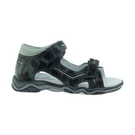 Sandałki na rzepy Ren But szare moro