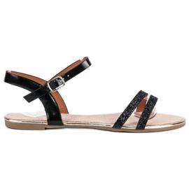 American Club Czarne płaskie sandały american