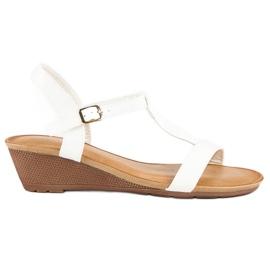 Bello Star Damskie sandały na lato białe