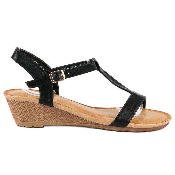 Bello Star Damskie sandały na lato czarne
