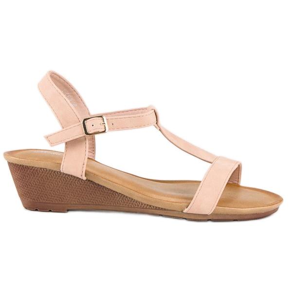 Bello Star Damskie sandały na lato różowe