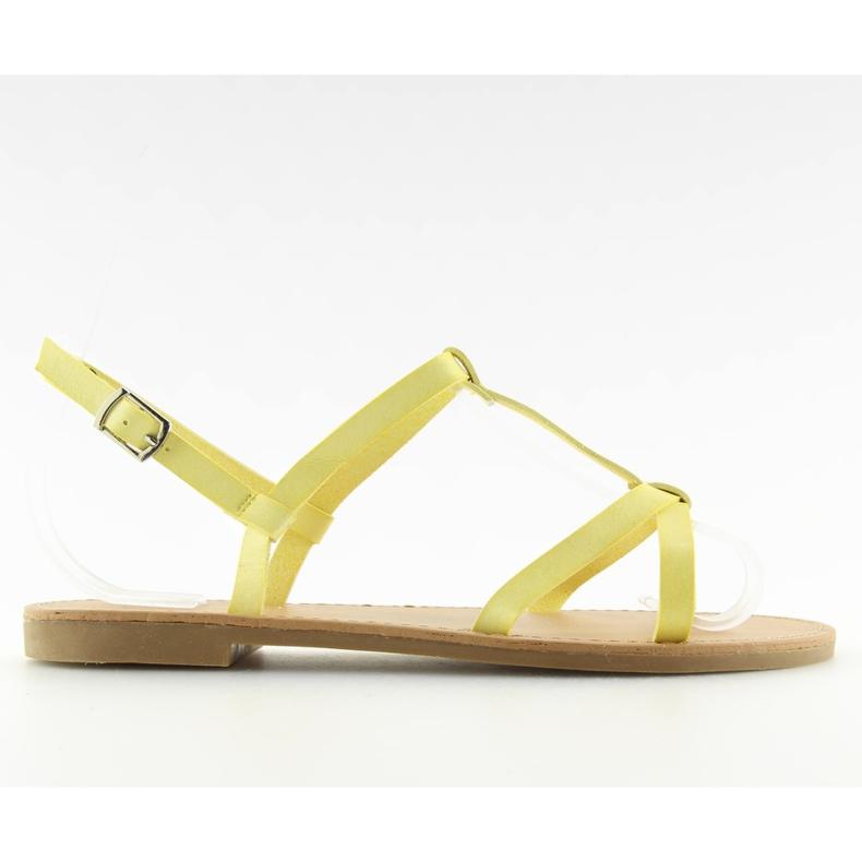 Sandałki fluorescencyjne hit lata żółte 5132 Yellow