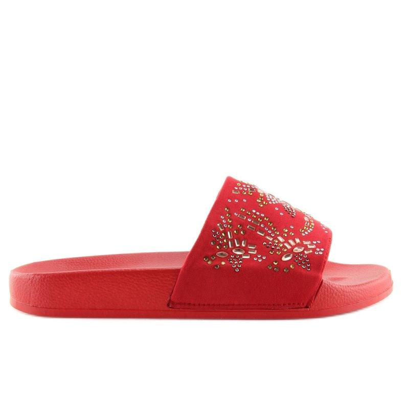 Klapki damskie czerwone 883 Red
