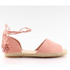 Espadryle open toe różowe Z-17 pink