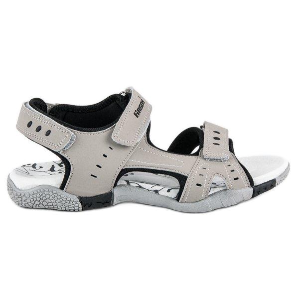 Hasby Sportowe sandały płaskie szare