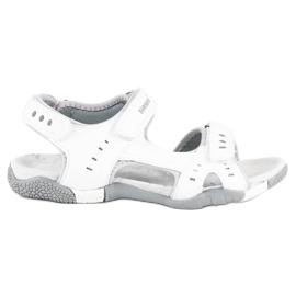 Hasby Sportowe sandały płaskie białe