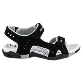 Hasby Sportowe sandały płaskie czarne