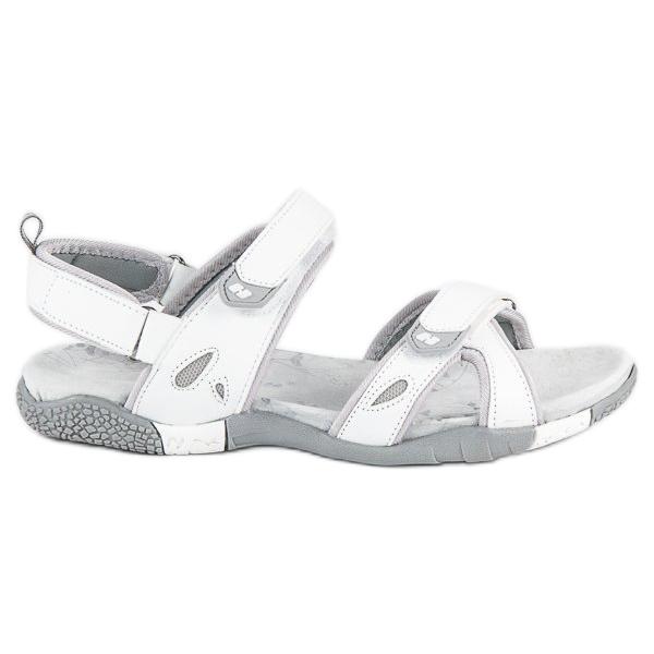 Hasby Damskie sandały na rzepy białe