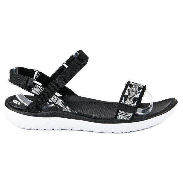 American Club Czarne sandały american