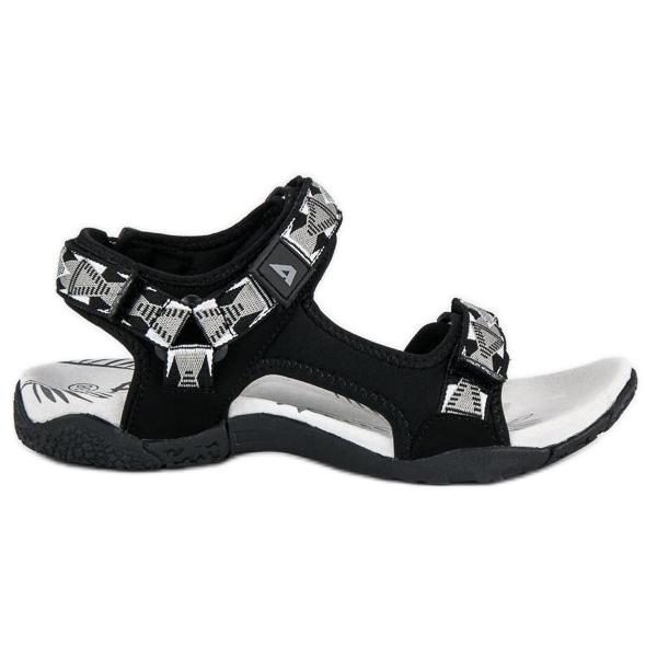 American Club Wygodne sandały damskie czarne